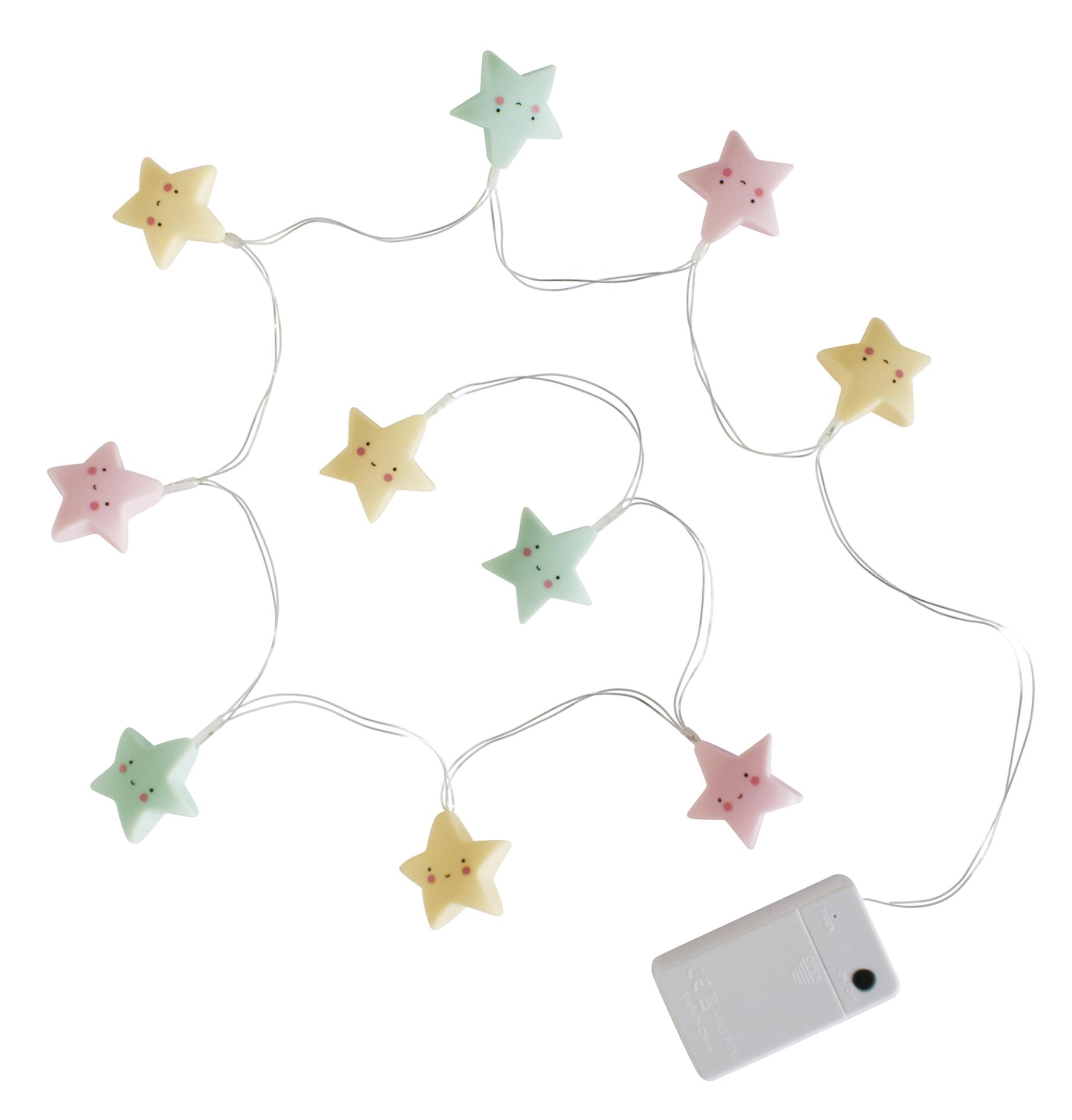 Image of   Lyskæde fra A Little Lovely Company - Pastel Stars