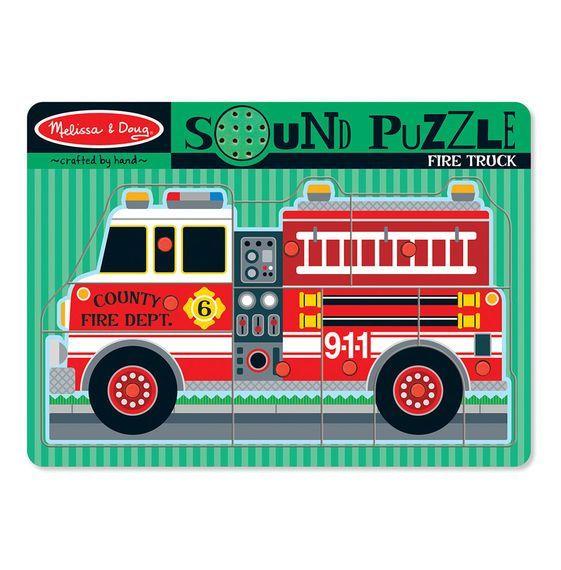 Billede af Sound Puzzle fra Melissa & Doug - Brandbil