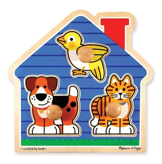 Billede af Jumbo Knob Puzzle fra Melissa & Doug - Kæledyr