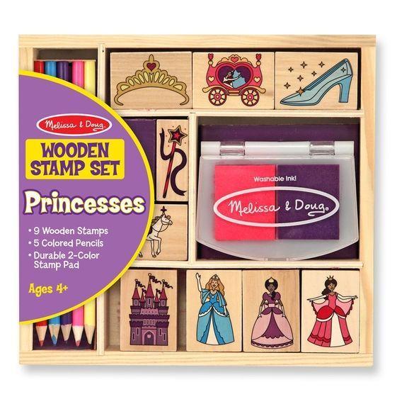 Billede af Stempelsæt fra Melissa & Doug - Wooden Stamp Set - Princesses
