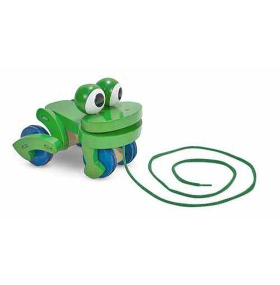 Image of Hoppende trækdyr fra Melissa & Doug - Frolicking Frog (13021)