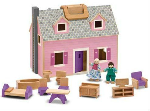 Image of Dukkehus fra Melissa & Doug - Fold & Go Mini Dollhouse (13701)