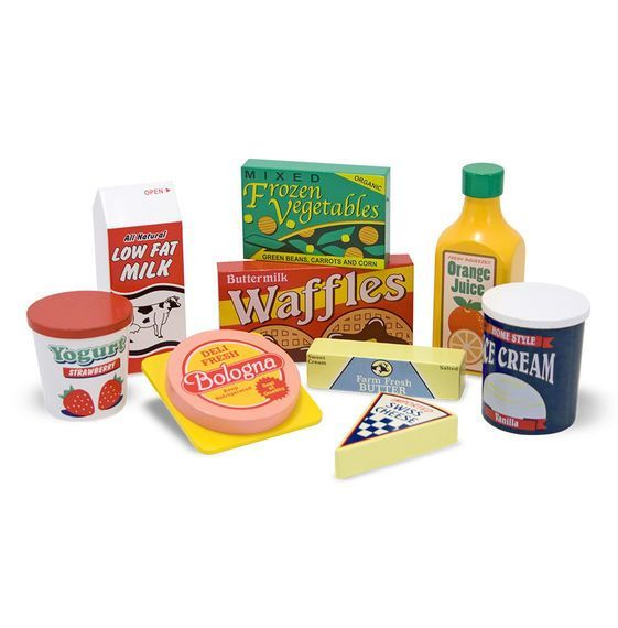 Legemad fra Melissa & Doug - Wooden Fridge Food