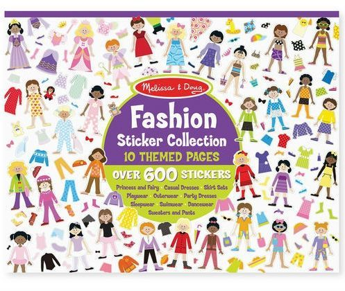 Image of Klistermærkebog fra Melissa & Doug-- Sticker Pad - Fashion (14190)