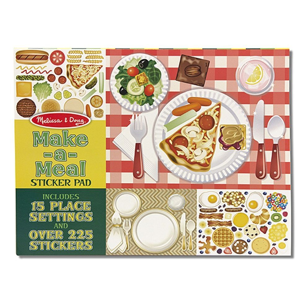 Image of Klistermærkebog fra Melissa & Doug - Sticker Pad - Make-a-Meal (14193)