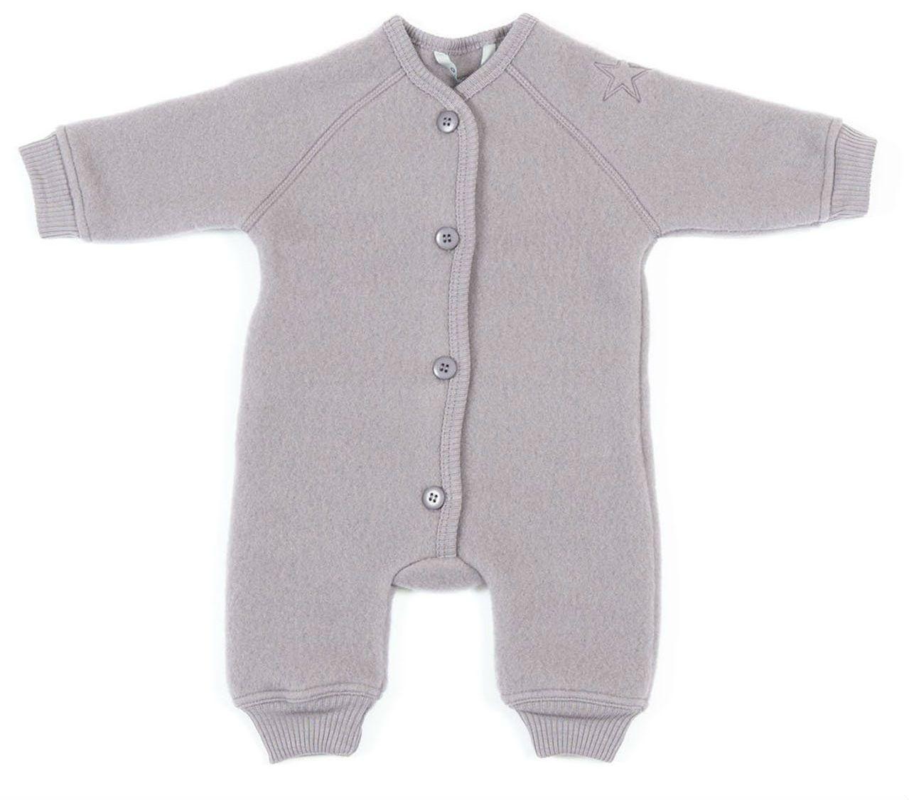 Billede af jumpsuit fra Smallstuff i merino uld med knapper - Støvet lilla