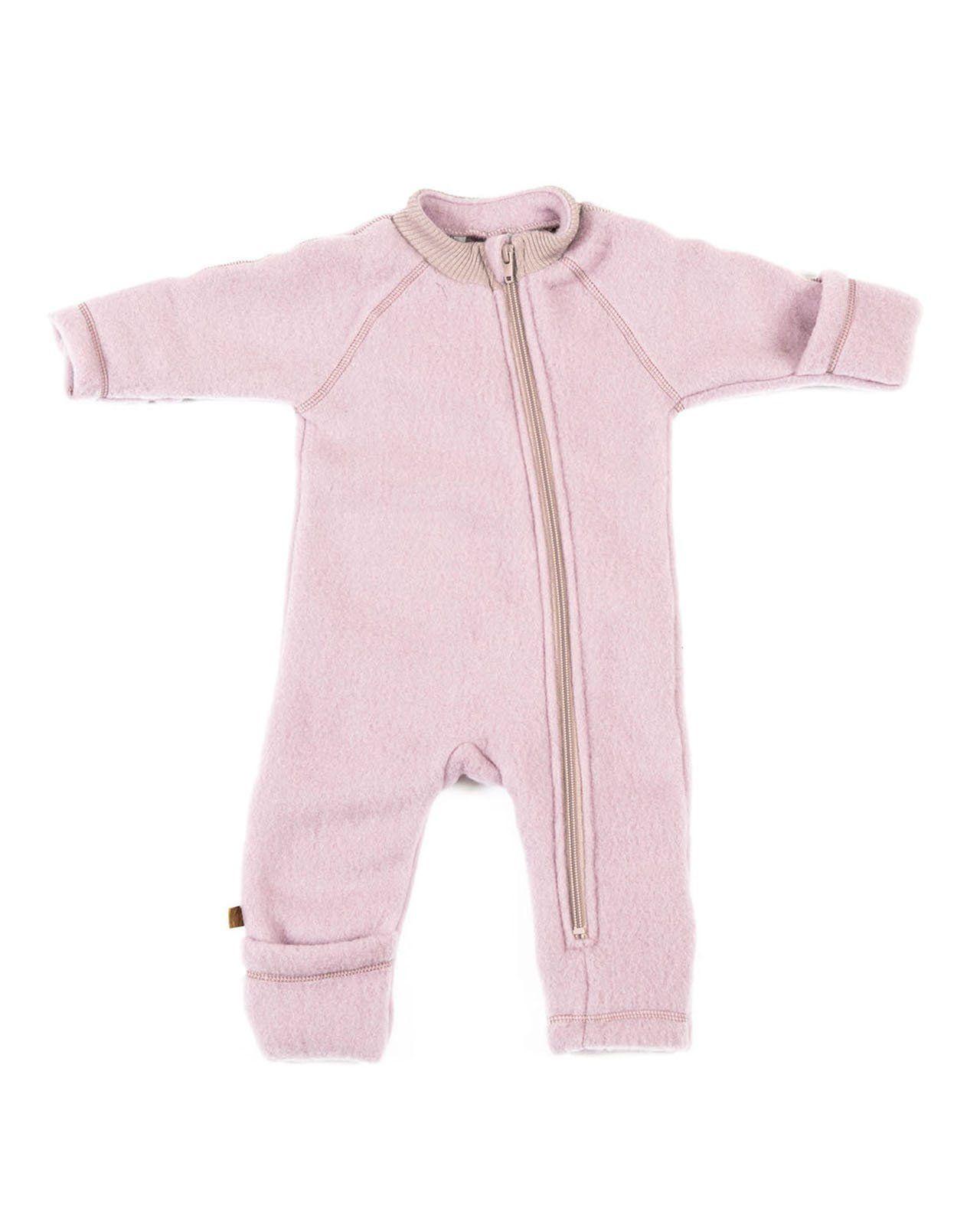 Image of   jumpsuit fra Smallstuff i merino uld med lynlås - Powder