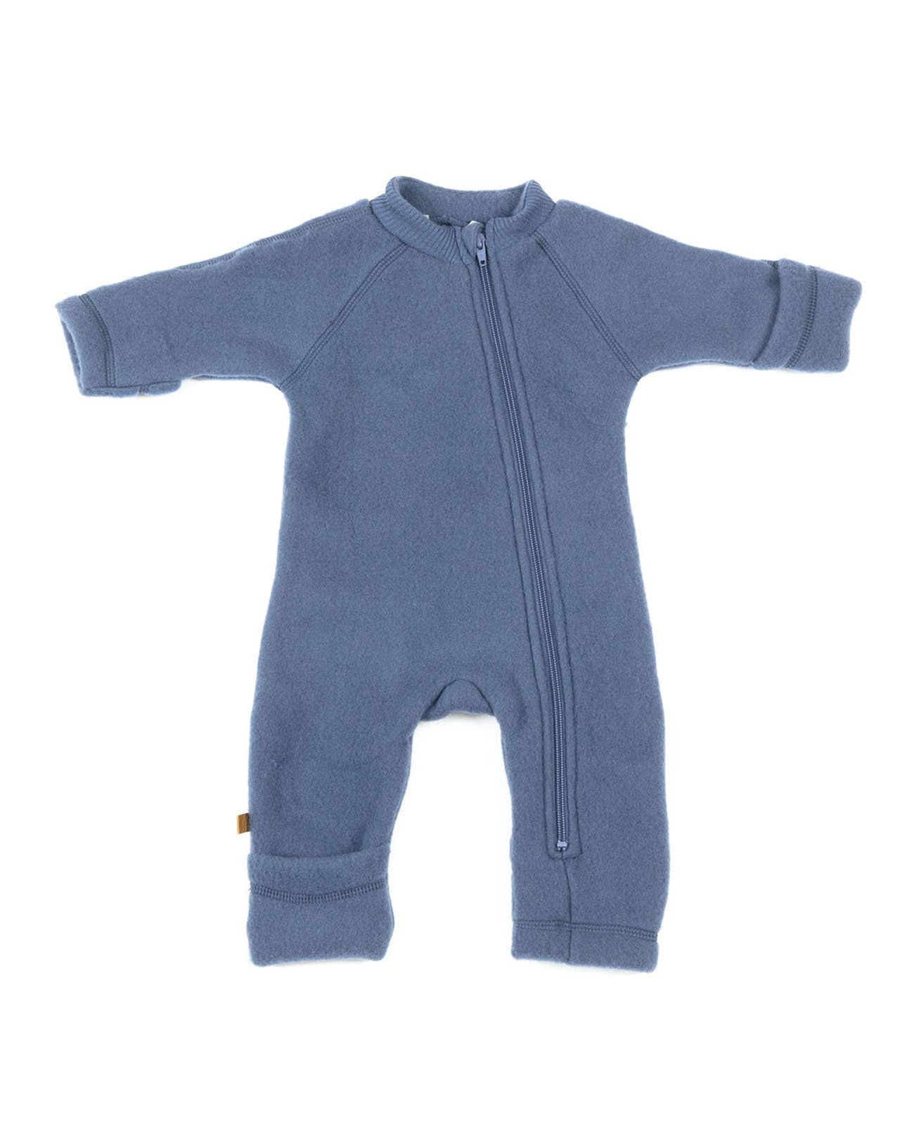 Image of   jumpsuit fra Smallstuff i merino uld med lynlås - Denim
