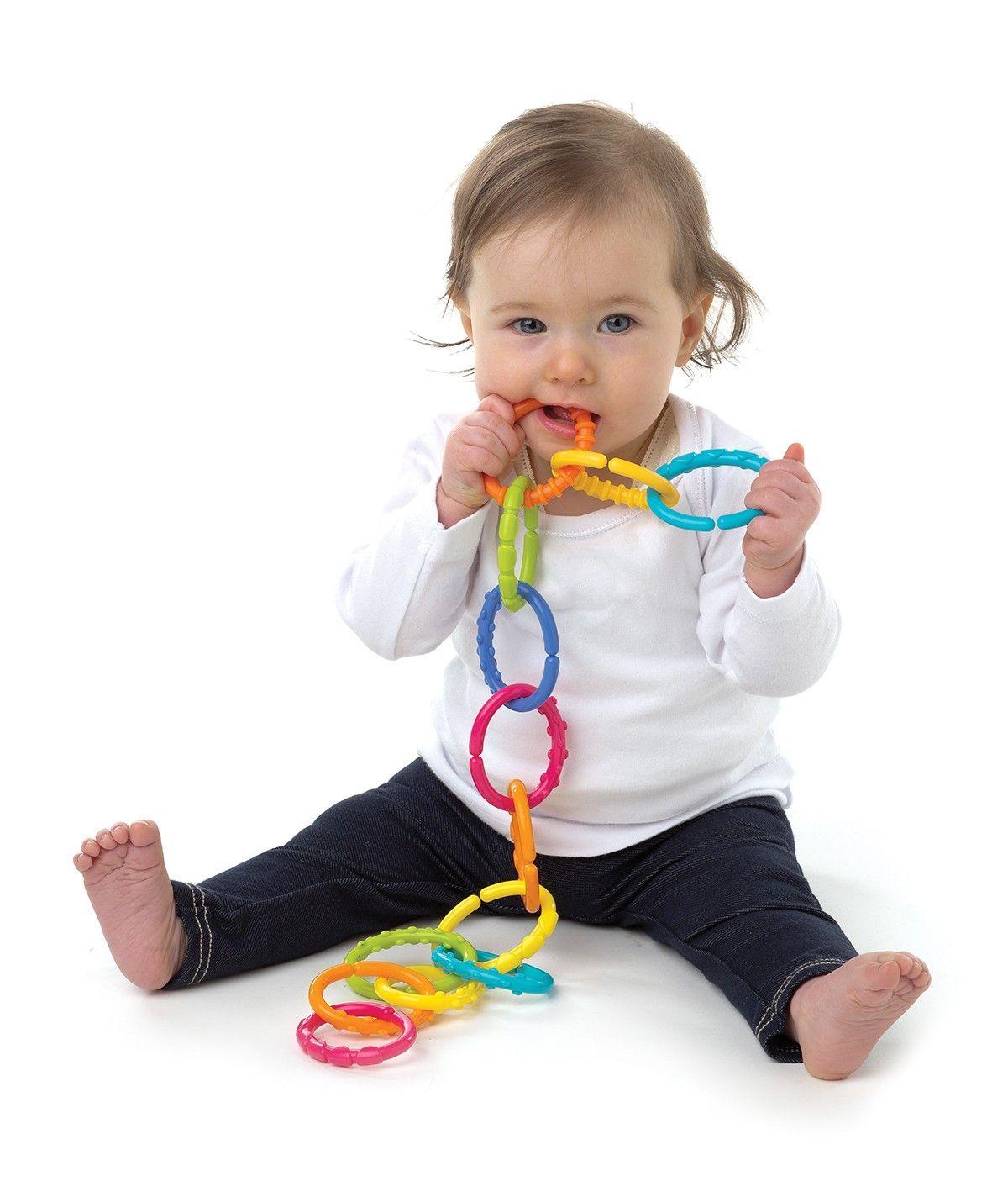 Image of   Ringe til ophæng og leg - Loopy Links - fra Playgro (24 stk.)