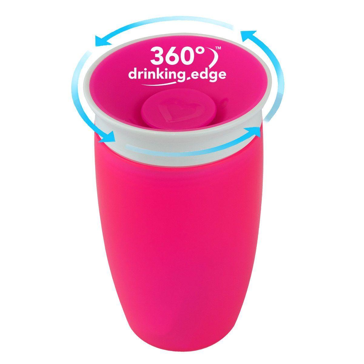 Image of   Drikketræner fra Munchkin - Spildfri Miracle 360 Sippy Cup - Pink