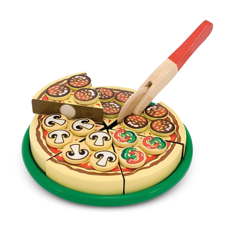 Image of   pizzasæt m. 54 toppings fra Melissa & Doug
