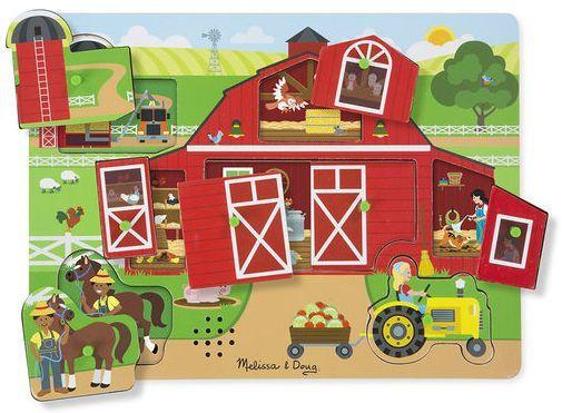 Billede af Sound Puzzle fra Melissa & Doug - Around the Farm