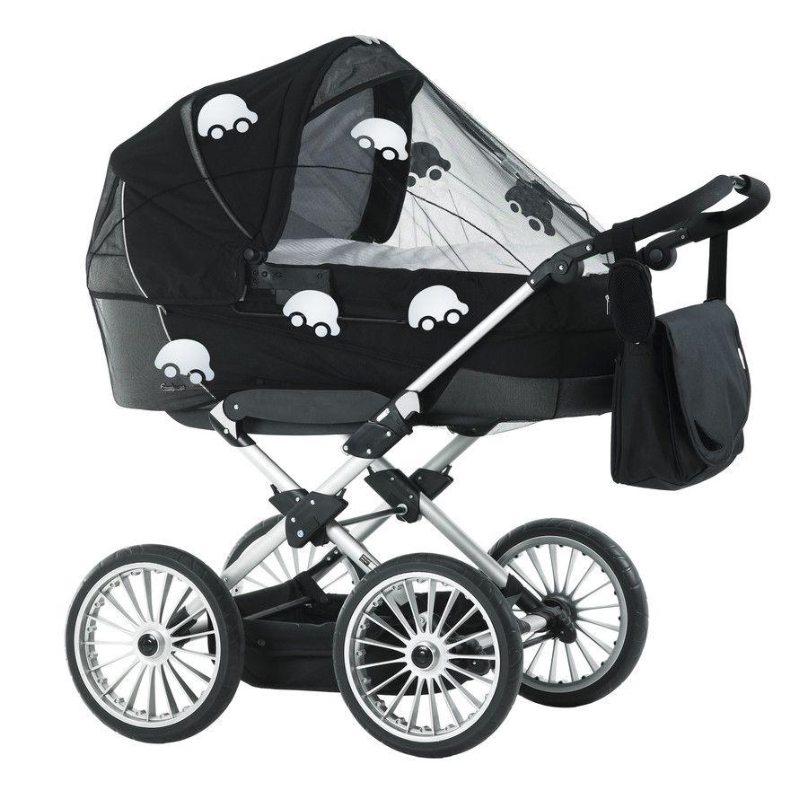 Image of Universal myggenet fra BabyDan - Sort m. refleks biler (3300-11-92)