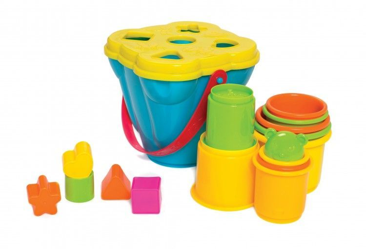 Image of Stabel- og puttespand 2-i-1 fra Jerrys Class by Playgro (1-6384153)