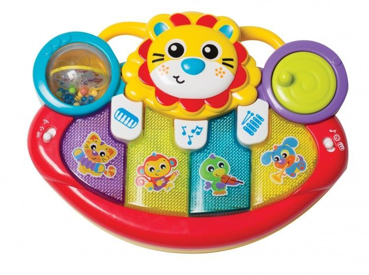 Image of Lion Activity Kick Toy Piano fra Jerrys Class by Playgro (1-6385508)