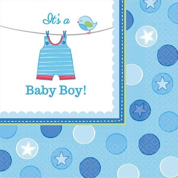 Image of Servietter - Its a Baby Boy (16 stk) (511491)