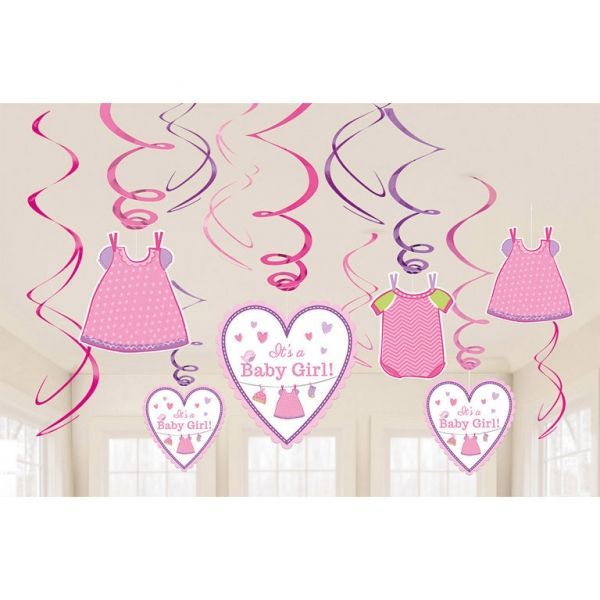 Image of Guirlander - Swirl Decorations - Its a Baby Girl (12 dele) (671489)