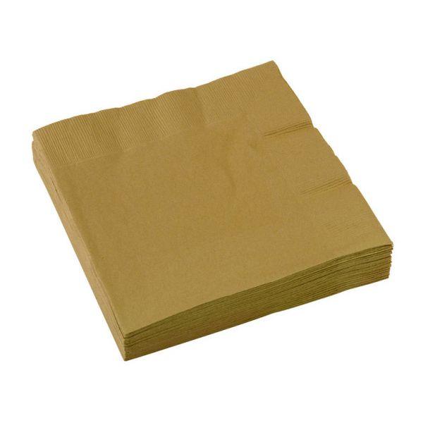 Image of Servietter - Guld (20 stk) (51015-19)