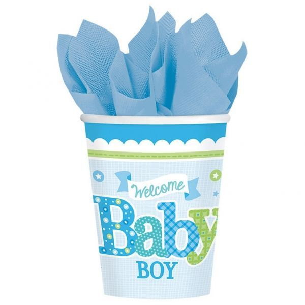 Image of Papkrus - Welcome Baby Boy (8 stk) (581461)