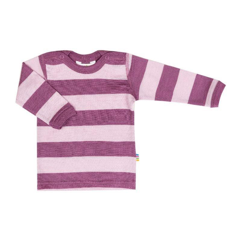Image of   Trøje fra Joha i Yarn Dyed uld - StripeGrape