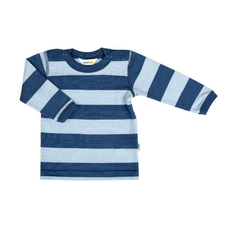 Image of   Trøje fra Joha i Yarn Dyed uld - StripeBlue