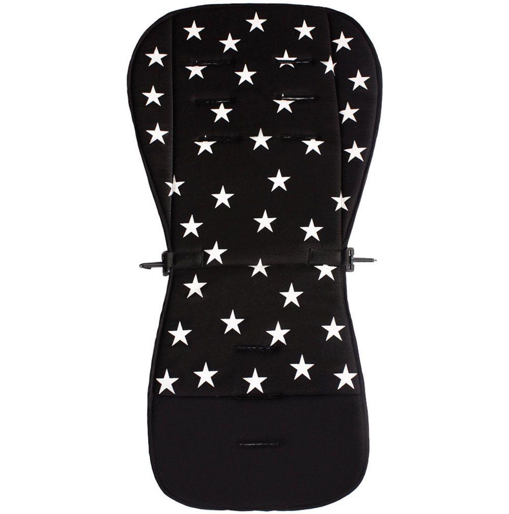Image of Klapvognspude fra Addstroller - Stars Black (7350041191445)
