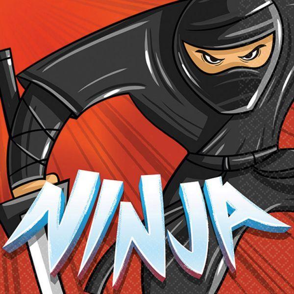 Image of Servietter - Ninja (16 stk) (501587)