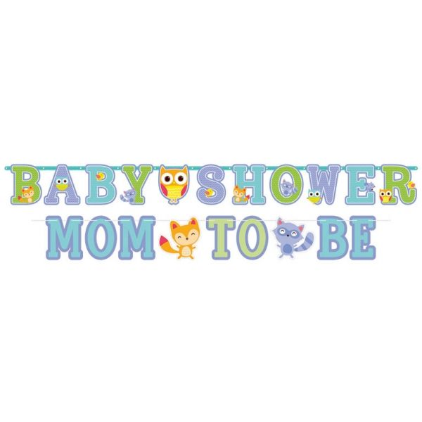 Jumbo bogstav banner kit - Babyhower - Mom To Be (2 stk)