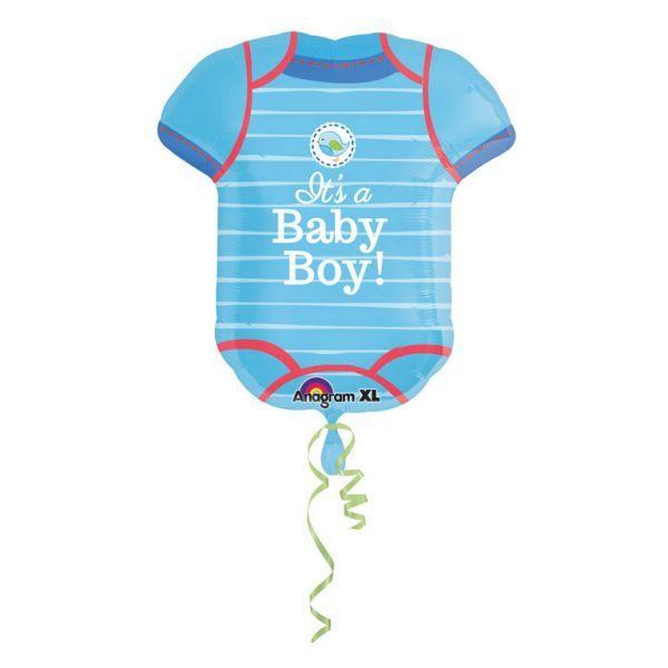 Ballon - folie - supershape babybody - boy (55x60cm) fra Amscan fra babygear.dk
