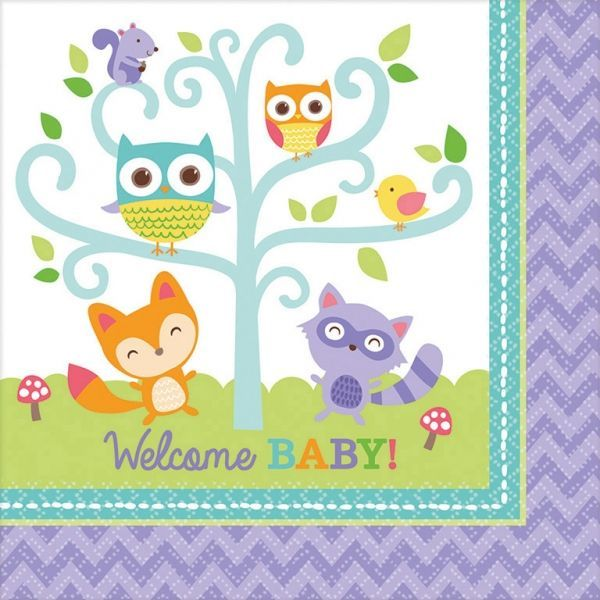 Image of Servietter - Welcome Baby (16 stk) (511452)