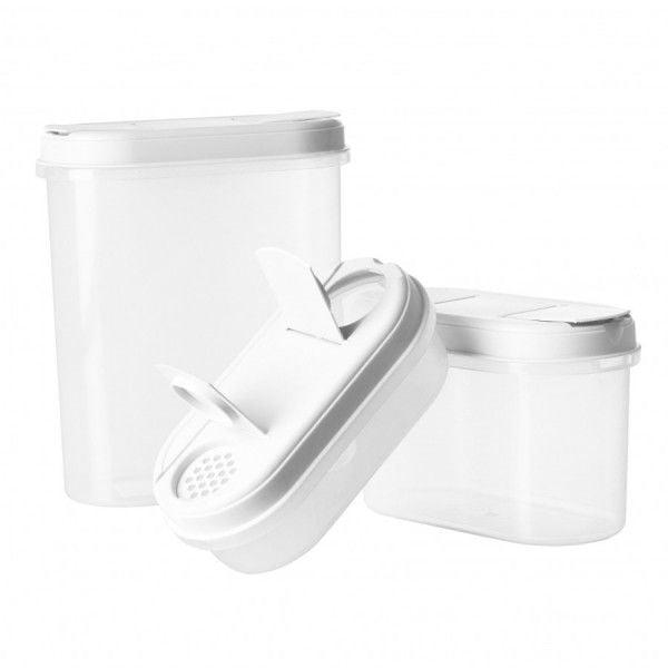 Billede af Dispenser Box Set fra Plast Team (3-pak) - Hvid
