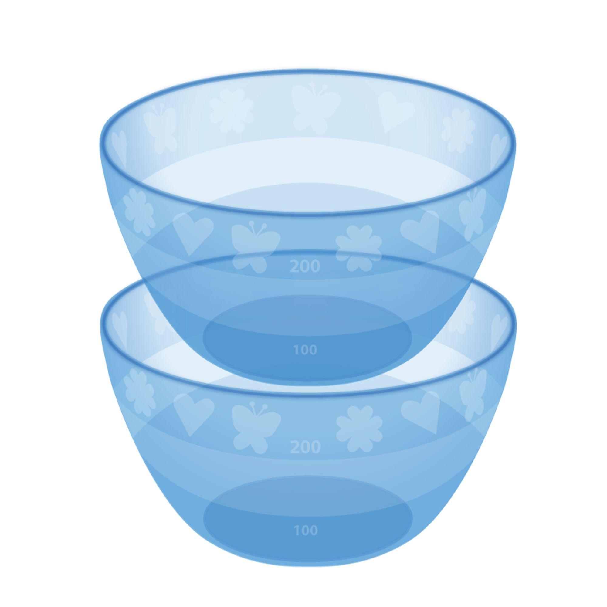 Billede af Grødskål fra Bambino - Measure-and-Serve! - Blå (2 stk)