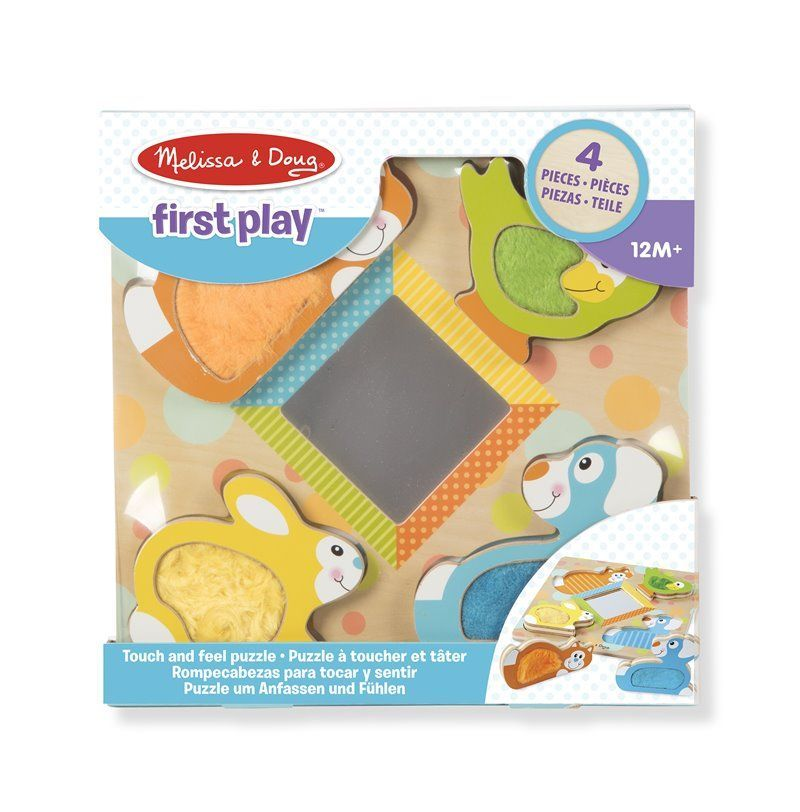 Image of Puslespil fra Melissa & Doug - Touch and Feel - Peek-a-boo pets (11898)