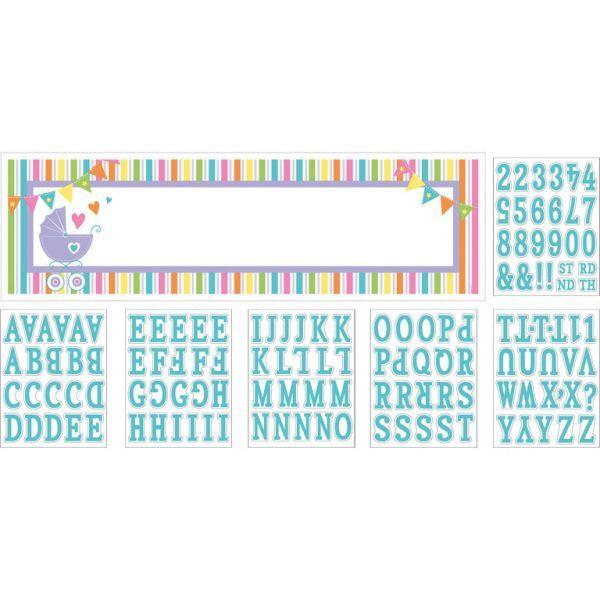 Kæmpebanner m. bogstaver 165 x 50,8 cm)