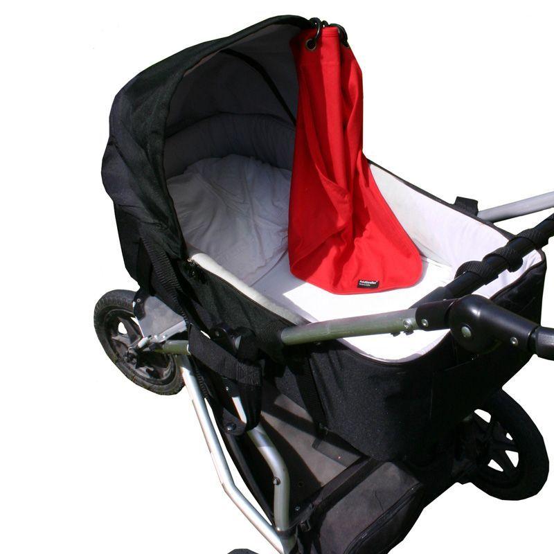 Image of Forhæng til barnevogn fra AddBaby - Rød (7350041192015)