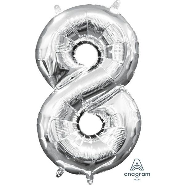 Ballon - Folie - Mini Shape - Silver - 20x35cm - 8