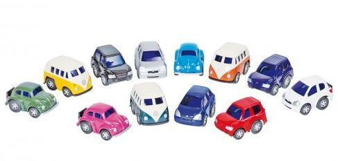 Legetøjsbiler fra Goki - Mini Racer Box (kasse m. 12 stk)