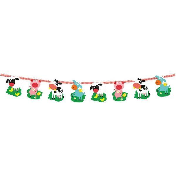 Image of   Banner til børnefødselsdag - Bondegård