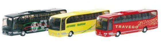 Image of Legetøjsbil fra Goki - MB Travego bus (18 cm) (12097)