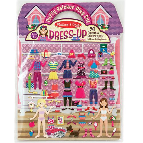 Image of Re-usable Puffy Stickers Play Set - Melissa&Doug - Dress-Up (12195)