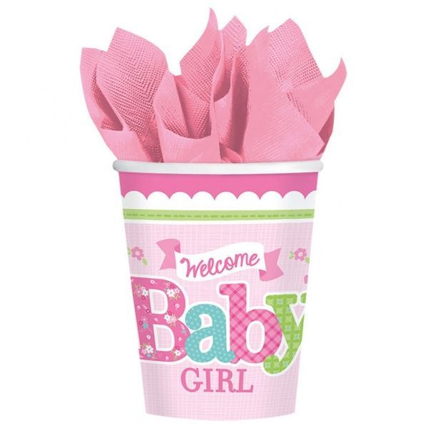 Image of Papkrus - Welcome Baby Girl (8 stk) (581458)