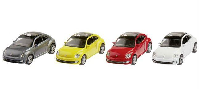 Image of   Legetøjsbil fra Goki - VW New Beetle 2012 (1:34-39)