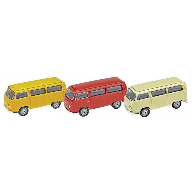 Image of   Legetøjsbus fra Goki - Volkswagen Bus T2 1972 (1:60-64)