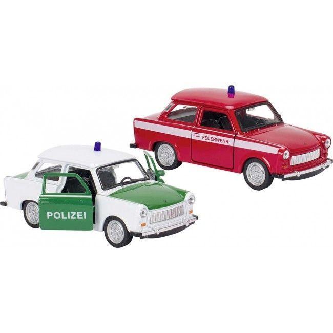 Image of   Legetøjsbil - Trabant 601 - Politibil eller Brandbil (1 stk)