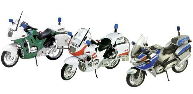 Image of   Politi motorcykel fra Goki - på stativ - BMW R (1:18)