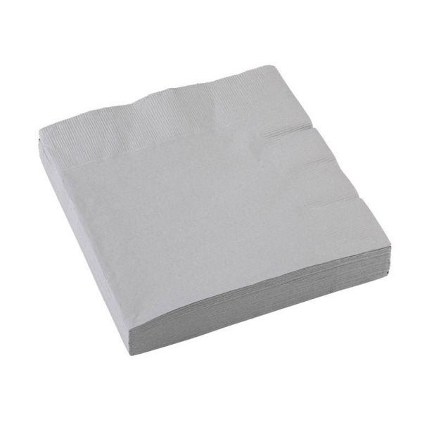 Image of Servietter - Silver (20 stk) (51015-18)