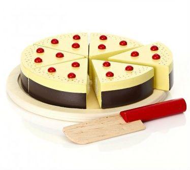 Image of   Cheesecake i træ fra Magni - Udskåret m. velcro