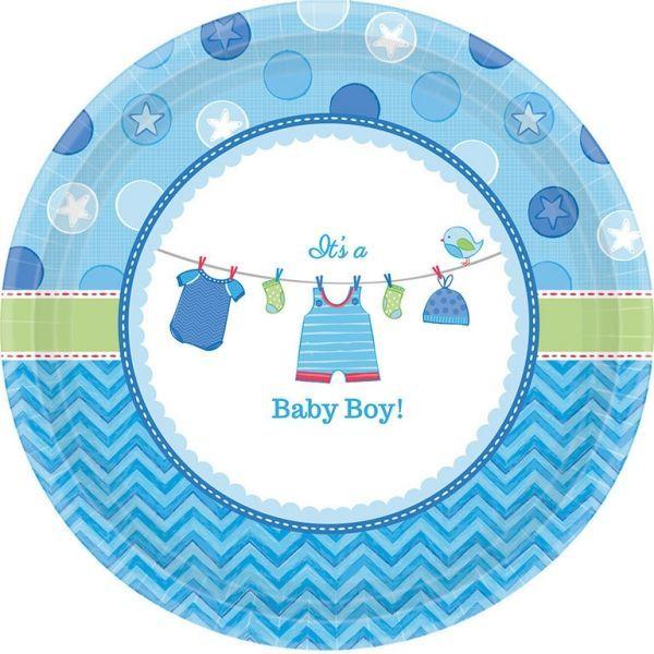 Image of   Lille paptallerken - Its a Baby Boy (8 stk)