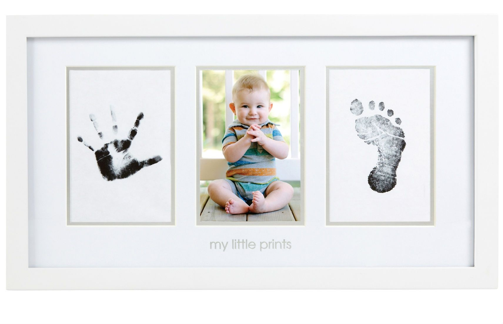Image of Billedramme fra Pearhead - Clean-Touch - Babyprints Photo Frame Hvid (109091)