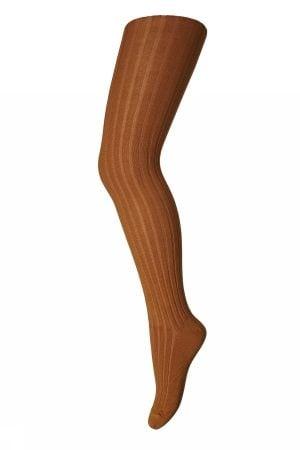 Image of Rib Strømpebukser i bomuld fra MP i dark honey (130-1422)